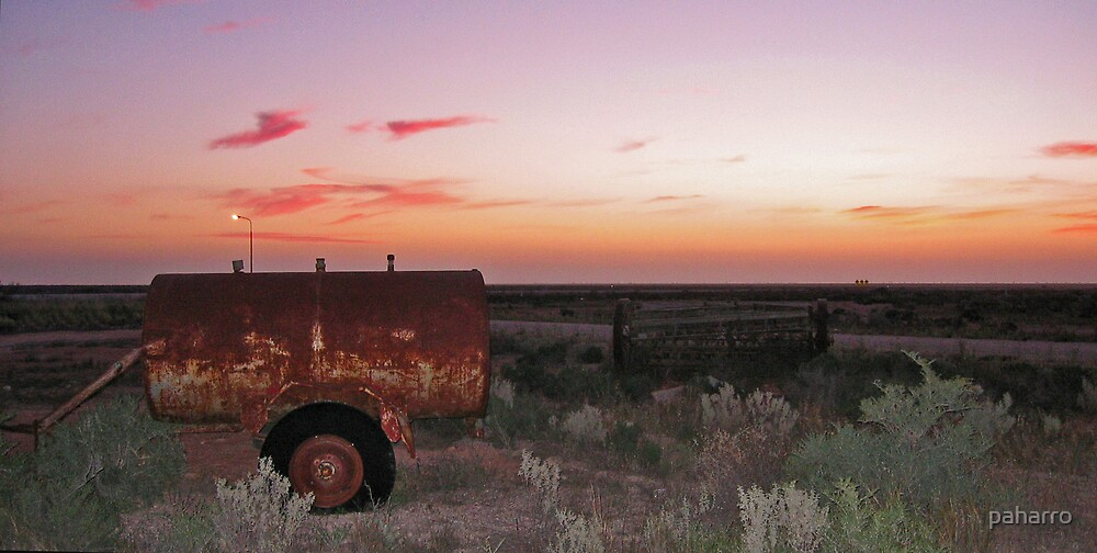 An Aussie Furphy or a Great Sunset. by Peter Harrison