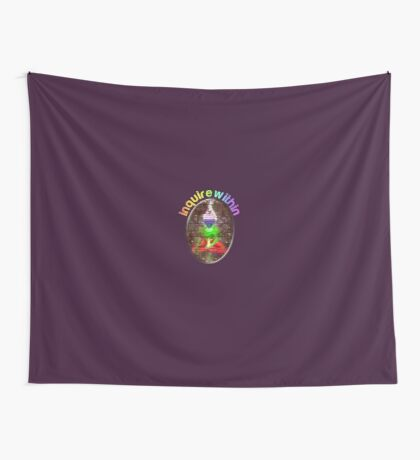 inquire within (rainbow meditation) Wall Tapestry