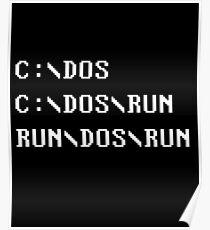 C:\DOS C:\DOS\RUN RUN\DOS\RUN Computer Joke Poster