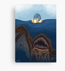 """""""There's something in the water!"""" Canvas Print"""