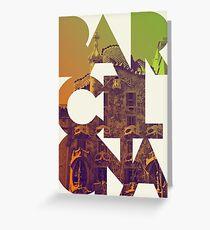 Barcelona Modern Greeting Card