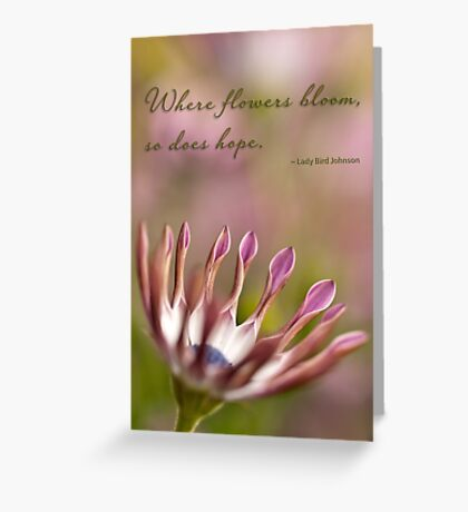 Where flowers bloom Greeting Card