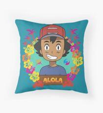 Welcome to Alola Throw Pillow