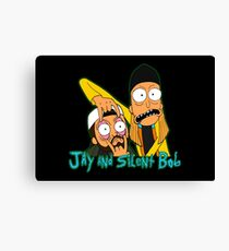 Jay and Silent Bob with logo Canvas Print