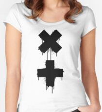 black white garrix Women's Fitted Scoop T-Shirt