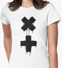 black white garrix Women's Fitted T-Shirt