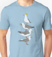 Stack of Seagulls Unisex T-Shirt