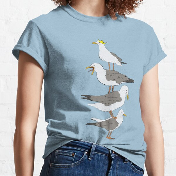 Stack of Seagulls Classic T-Shirt