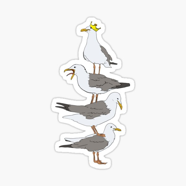 Stack of Seagulls Sticker