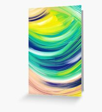 Colorful Abstract Painting Greeting Card
