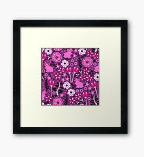 Pig and Posies Framed Print