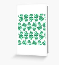 Tropical pattern with monstera leaves Greeting Card