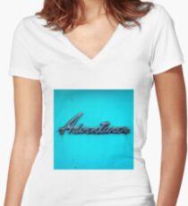 Adventurer. Women's Fitted V-Neck T-Shirt