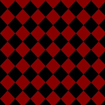 Black and Red Checker Board by kashmier