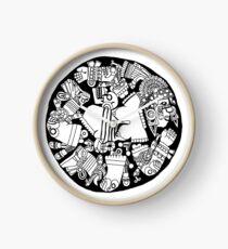 Meso Ring - black & white Clock