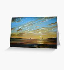 Boats on the Horizon Greeting Card