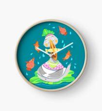 Pelican Pool Party Clock