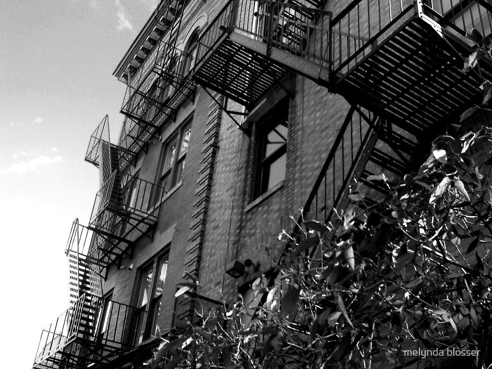 fire escape  B&W by melynda blosser