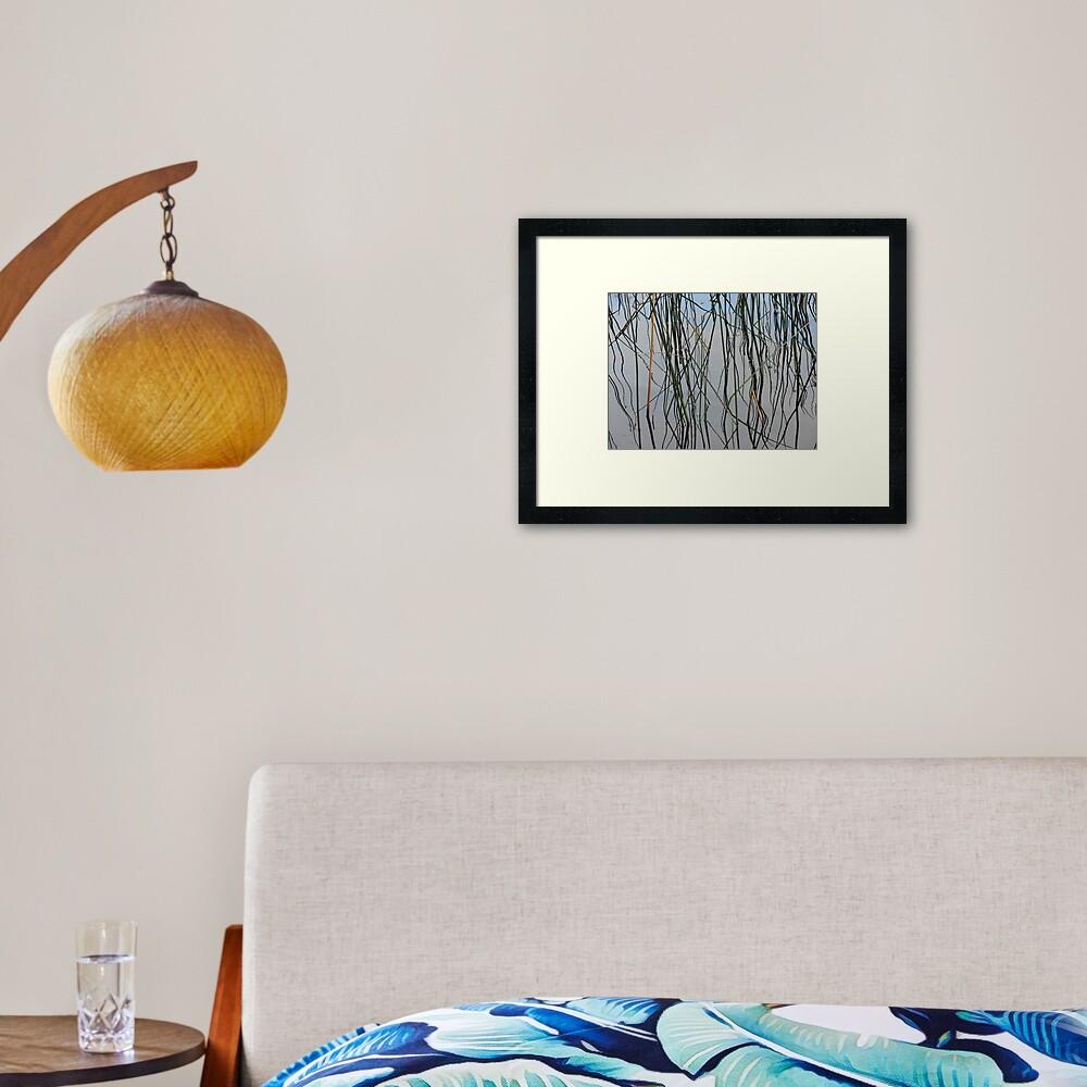 Wobbly Reeds Framed Art Print