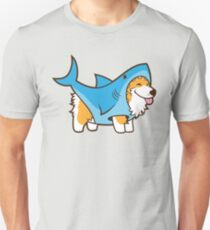 Corgi in einem Haifischanzug Unisex T-Shirt