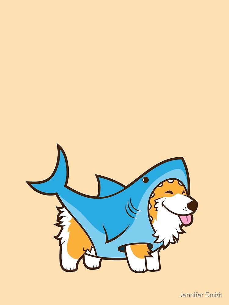 Corgi In a Shark Suit by Jennifer-Smith