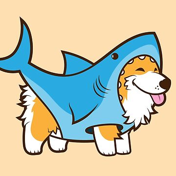 Corgi In a Shark Suit by Jennifer-Smith
