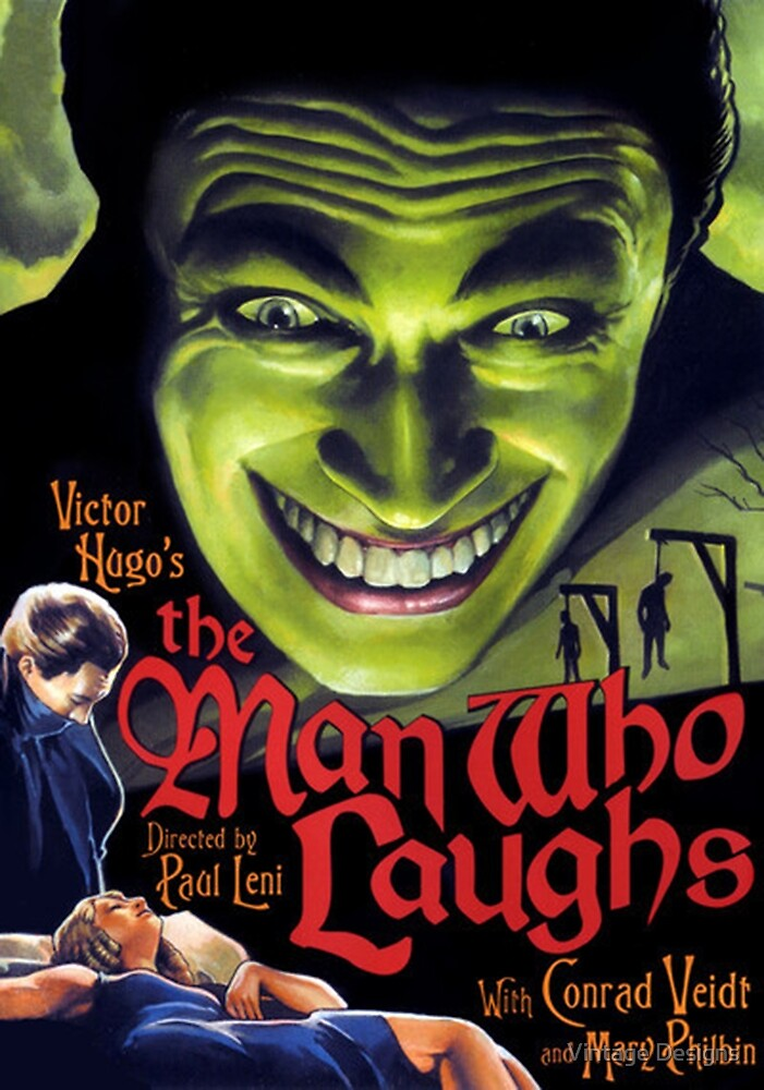 The Man Who Laughs vintage movie poster by Vintage Designs