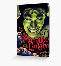 The Man Who Laughs vintage movie poster Greeting Card