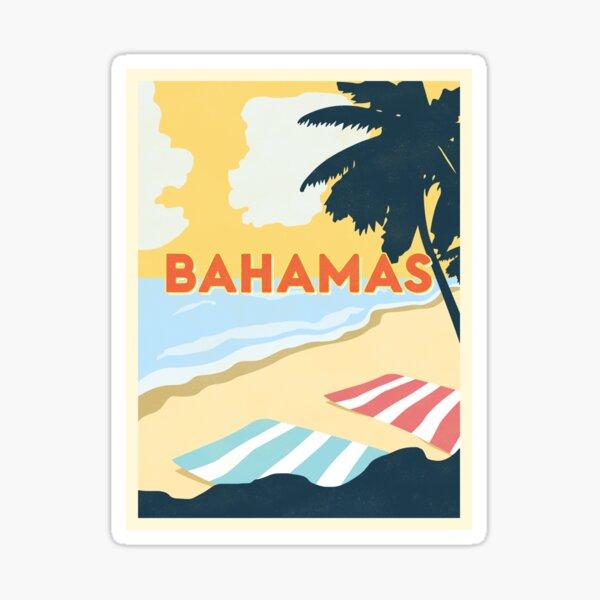 Bahamas Vintage Travel Sticker