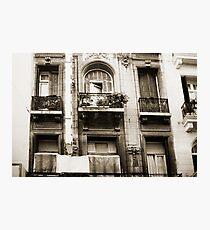 Balconies Lomo Argentina Photographic Print
