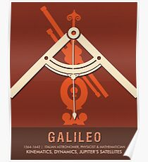 Science Posters - Galileo Galilei - Astronomer, Physicist, Mathematician Poster