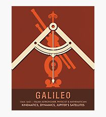 Science Posters - Galileo Galilei - Astronomer, Physicist, Mathematician Photographic Print