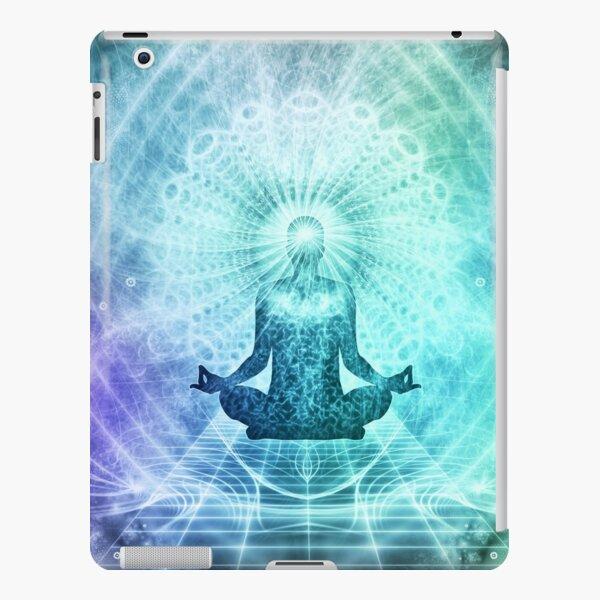 Holy Yoga Lotus Meditation turquoise violet iPad Snap Case