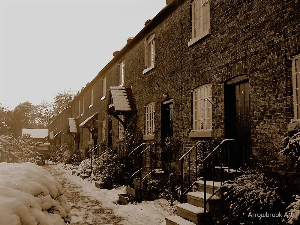 Oak Cottages Styal, Cheshire by John Brotheridge