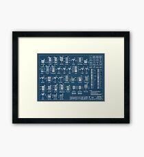 Ccktail chart Framed Print