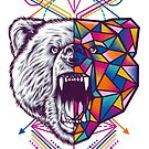 Geometrical Bear by eggzoo