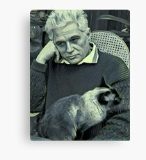 Derrida and Cat - stylized Canvas Print