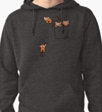 Pocket Red Panda Bears Pullover Hoodie