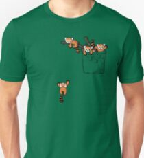Pocket Red Panda Bären Slim Fit T-Shirt