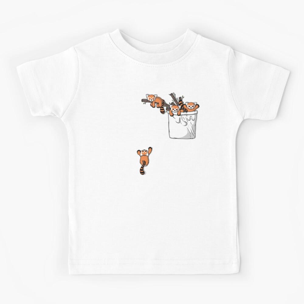Pocket Red Panda Bears Kids T-Shirt