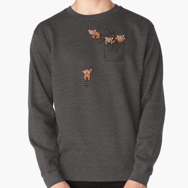 Pocket Red Panda Bears Pullover Sweatshirt