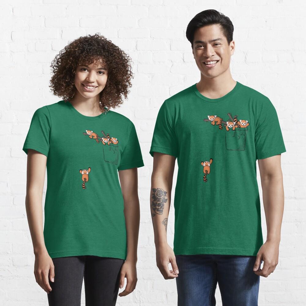 Pocket Red Panda Bears Essential T-Shirt