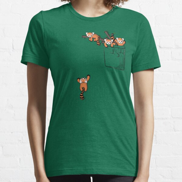 Pocket Red Panda Bears Essential T-Shirt