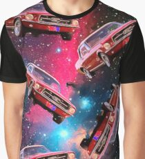 Floating Ford Mustang Original Crayon Paint. Graphic T-Shirt