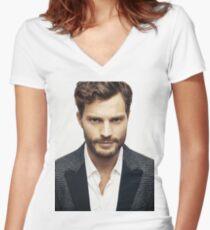 Handsome jamie dornan Women's Fitted V-Neck T-Shirt