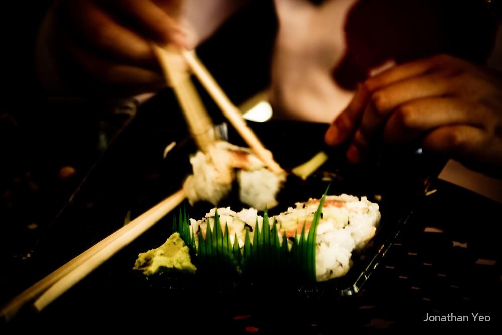 Eating Sushi by Jonathan Yeo