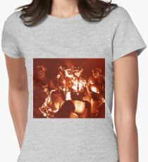 Ritual with candles and Witches from the 1920s film Haxan Womens Fitted T-Shirt