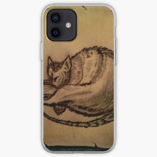 THE SLEEPING CAT  iPhone Soft Case