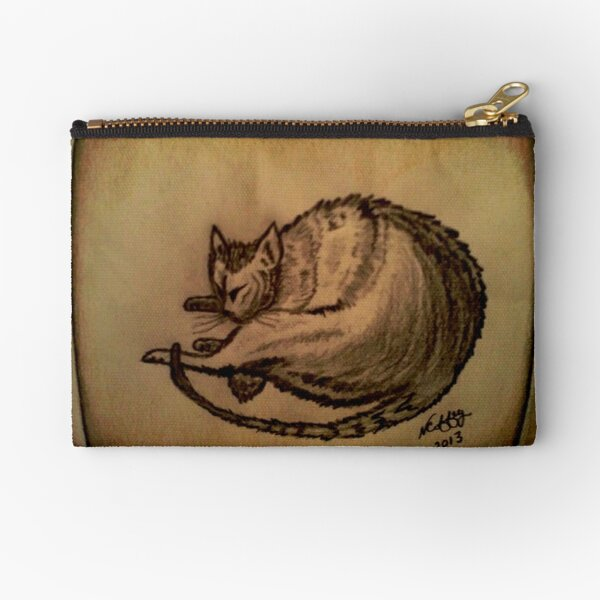 THE SLEEPING CAT  Zipper Pouch