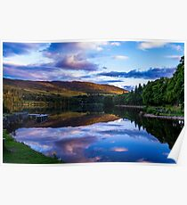 Loch Ness at sunset Poster